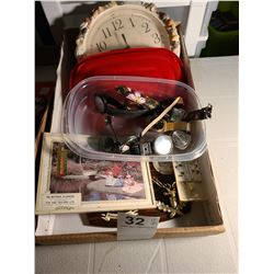 Assortment of Barometers, thermometers and watches.  Cat A