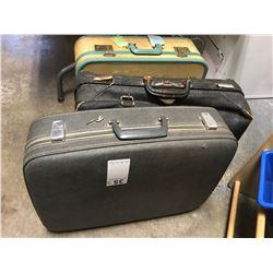 Elephant hide vintage suit case Cat A