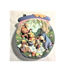 """Decorative Disney Plate - A Pooish Sort of Picnic  6.5""""  in length 3 dimensional plate"""