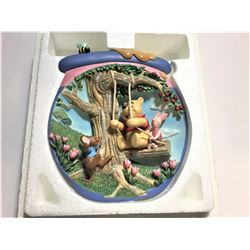 """Decorative Winnie The Pooh Plate """"Sharing a Ride""""  6.5""""  in length 3 dimensional plate"""
