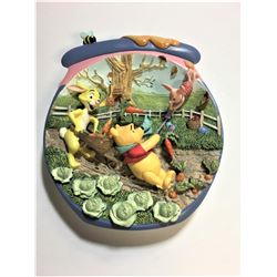 """Decorative Winnie The Pooh Plate """"Happy Windsday""""   6.5""""  in length 3 dimensional plate"""