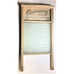 """Vintage Antique Economy Glass Washboard Canadian Woodenware Co 24"""" x 12"""""""