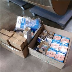 2 BOXES OF PRINTER INK, REZEAL MOUTHGUARDS, SHOE SRUBBERS, COFFEE POD HOLDER AND MORE