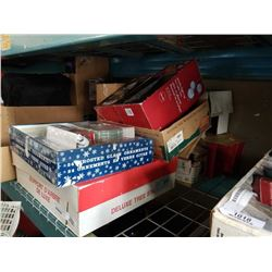 LARGE LOT OF CHRISTMAS DECORATIONS AND LIGHTS