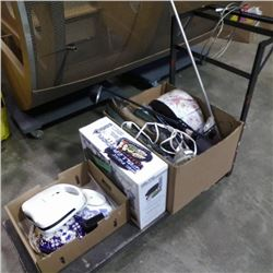 2 BOXES OF ESTATE GOODS AND GRILLERATION GRILL