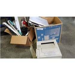 2 BOXES OF SONY SUB, PRINTER SCANNER AND MORE