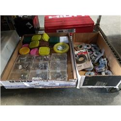 TRAY OF STAINLESS HARDWARE AND TRAY OF WASHERS, BOLTS