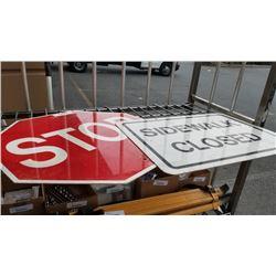 2 METAL STREET SIGNS