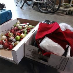 2 BOXES OF CHRISTMAS DECOR, HEALTH SUPPLEMENTS AND ELECTRONICS