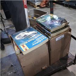 2 BOXES OF HAYNES REPAIR MANUALS