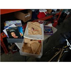 Lot of plastic bags, gift bags and board games
