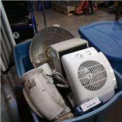 TOTE OF HEATERS AND FANS