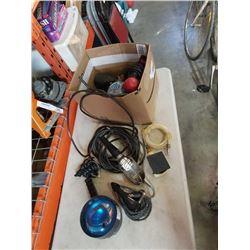 BOX OF AIR TOOLS, ELECTRIC SANDERS, TOOLS