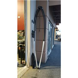 2 ALUMINUM SAILBOARD FRAMES APPROX 10FT AND 2 METAL OARS