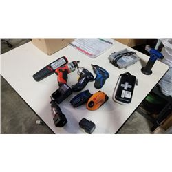 BOX OF CORDLESS DREMEL WITH CHARGER BATTERY AND MORE