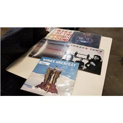 5 WINGS RECORDS AND JOHN LENON FABRIC POSTER