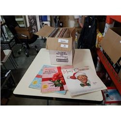 BOX OF CHRSTMAS RECORDS