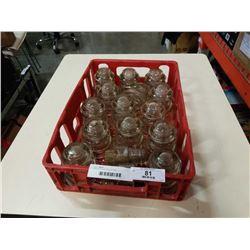 TRAY OF GLASS INSULATORS