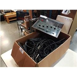 PYRAMID STEREO MIXER PR-4700 AND BOX PATCH CORDS