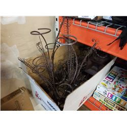 BOX OF DECORATIVE METAL STANDS