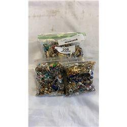 3 BAGS OF JEWELLERY