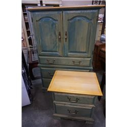 MAPLE CANADEL WARDROBE AND 2 DRAWER NIGHTSTAND
