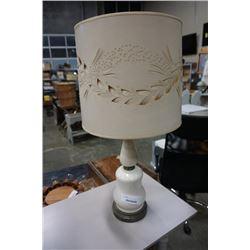 MCM CERAMIC AND BRASS LAMP W/ ORIGINAL SHADE