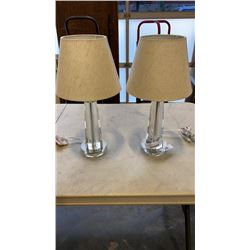 PAIR OF MODERN ACRYLIC TABLE LAMPS