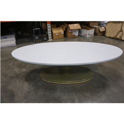 PAINTED OVAL COFFEE TABLE