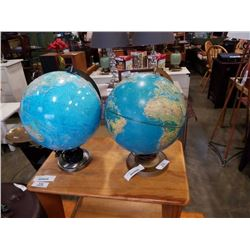 2 GLOBE TABLE LAMPS