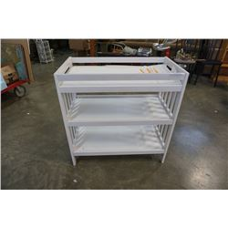 White baby change table with pad
