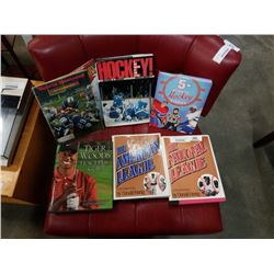 LOT OF SPORTS HARDCOVER COFFEE TABLE BOOKS