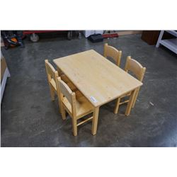 MAPLE KIDS TABLE WITH 4 CHAIRS