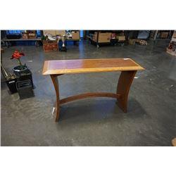 HAND CARVED TEAK SOFA TABLE