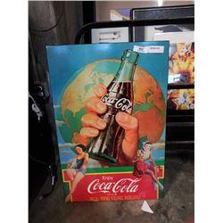 COCA COLA ADVERT ON BOARD