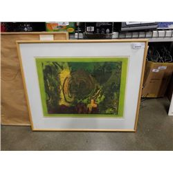 WHO ARE WE LEP BY VALERIE METZ 13/15 ETCHING LIME, GALLERY PRICE $600