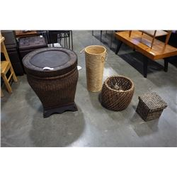 WICKER BASKET AND HAMPERS