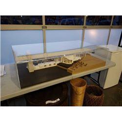 SCALE ORIGINAL ARCHITECTURAL MODEL OF VANCOUVER PLANETARIUM AND BURRARD STREET BRIDGE 1/1 IN PLEXI C