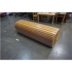 HAND CRAFTED WOOD BENCH - FOR OLYMPICS BURL ENDS - RETAIL $5000