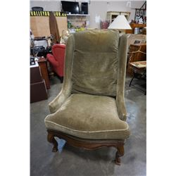 WILLIAM SWITZER LOUIS XV STYLE COUNTRY FRENCH WING CHAIR