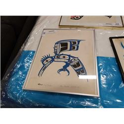 BEN HOUSTIE SIGNED FIRST NATIONS PRINT KING FISHER