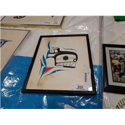 BEN HOUSTIE SIGNED FIRST NATIONS PRINT - EMERGING KILLER WHALE