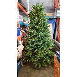 9 FT PRELIT CHRISTMAS TREE - 5 SECTIONS, FLOOR LIGHT SWITCH WITH 9 LIGHT SETTINGS COMPARE @ $460