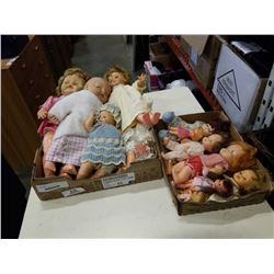 2 TRAYS OF DOLLS