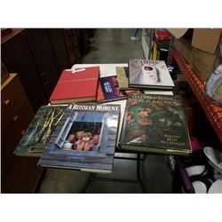 LOT OF COFFEE TABLE BOOKS