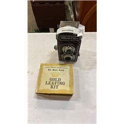 ROLLEIFLEX DISPLAY CAMERA AND GOLD LEAFING KIT