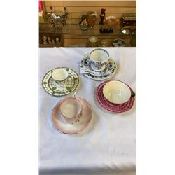 4 CHINA TEACUPS AND SAUCERS, J&G MEAKIN, ROYAL DOULTON, ROYAL ALBERT AND TWO'S COMPANY
