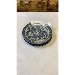 2 ANTIQUE CHINESE BLUE AND WHITE PLATES