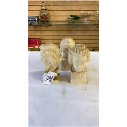 3 MADE IN ITALY HEAD SCULPTURES