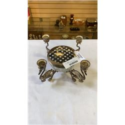 Silver plated candleabra with bowl